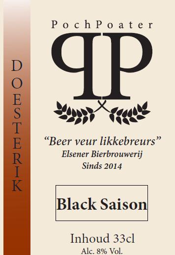 black saison - elsener bierbrouwerij pochpoater
