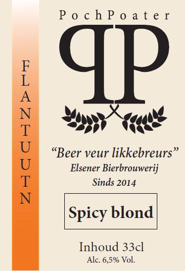 spicy blond - elsener bierbrouwerij pochpoater