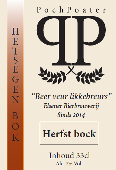 herfstbock - elsener bierbrouwerij pochpoater