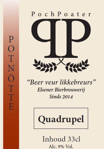 quadruppel - elsener bierbrouwerij pochpoater