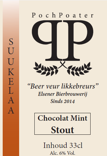 chocolate mint stout - elsener bierbrouwerij pochpoater