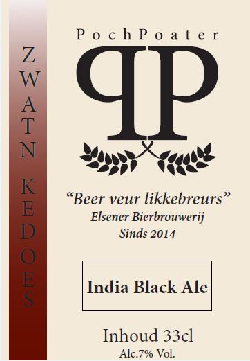 India Black Ale - Elsener bierbrouwerij PochPoater